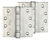 Zoo Hardware 4 Inch Grade 13 Ball Bearing Hinge, Polished Stainless Steel - ZHSS244P (sold in pairs)