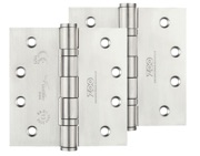 Zoo Hardware 4 Inch Grade 13 Ball Bearing Hinge, Satin Stainless Steel - ZHSS244S (sold in pairs)
