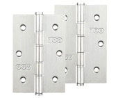 Zoo Hardware 3 Inch Grade 201 Slim Knuckle Bearing Hinge, Polished Stainless Steel - ZHSS352P (sold in pairs)