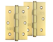 Zoo Hardware 3 Inch Grade 201 Slim Knuckle Bearing Hinge, PVD Stainless Brass - ZHSS352PVD (sold in pairs)