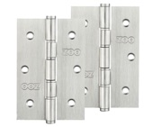 Zoo Hardware 3 Inch Grade 201 Slim Knuckle Bearing Hinge, Satin Stainless Steel - ZHSS352S (sold in pairs)