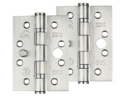 Zoo Hardware 4 Inch Grade 201 Dog Bolt Or Security Door Hinge, Satin Stainless Steel - ZHSSDB243 (sold in pairs)