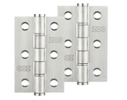 Zoo Hardware 3 Inch Grade 201 Washered Hinge, Satin Stainless Steel - ZHSSW232S (sold in pairs)