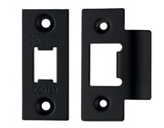 Zoo Hardware Face Plate And Strike Plate Accessory Pack, Powder Coated Black - ZLAP01PCB