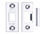 Zoo Hardware Face Plate And Strike Plate Accessory Pack, PVD Nickel - ZLAP01PVDN