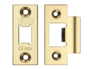 Zoo Hardware Face Plate And Strike Plate Accessory Pack, PVD Stainless Brass - ZLAP01PVD