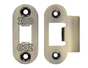 Zoo Hardware Radius Edge Face Plate And Strike Plate Accessory Pack, Florentine Bronze - ZLAP01RFB