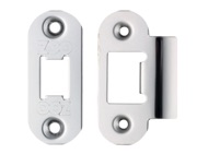 Zoo Hardware Radius Edge Face Plate And Strike Plate Accessory Pack, Polished Stainless Steel - ZLAP01RPSS