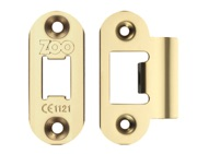 Zoo Hardware Radius Edge Face Plate And Strike Plate Accessory Pack, PVD Stainless Brass - ZLAP01RPVD