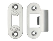 Zoo Hardware Radius Edge Face Plate And Strike Plate Accessory Pack, Satin Stainless Steel - ZLAP01RSS