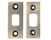 Zoo Hardware Face Plate And Strike Plate Accessory Pack, Florentine Bronze - ZLAP02FB