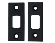 Zoo Hardware Face Plate And Strike Plate Accessory Pack, Powder Coated Black - ZLAP02PCB