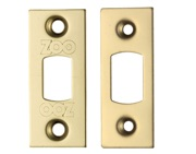 Zoo Hardware Face Plate And Strike Plate Accessory Pack, PVD Stainless Brass - ZLAP02PVD