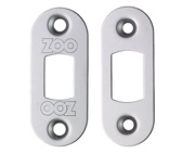 Zoo Hardware Radius Face Plate And Strike Plate Accessory Pack, Polished Stainless Steel - ZLAP02RPSS
