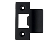 Zoo Hardware Spare Extended Tongue Strike Plate Accessory, Powder Coated Black - ZLAP06PCB