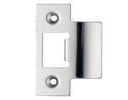 Zoo Hardware Spare Extended Tongue Strike Plate Accessory, Polished Stainless Steel - ZLAP06PSS