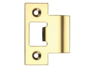 Zoo Hardware Spare Extended Tongue Strike Plate Accessory, PVD Stainless Brass - ZLAP06PVD