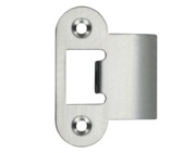 Zoo Hardware Radius Edge Spare Extended Tongue Strike Plate Accessory, Satin Stainless Steel - ZLAP06RSS