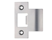 Zoo Hardware Spare Extended Tongue Strike Plate Accessory, Satin Stainless Steel - ZLAP06SS