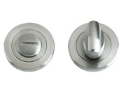 Zoo Hardware ZPS Bathroom Turn & Release, Satin Stainless Steel - ZPS004SS