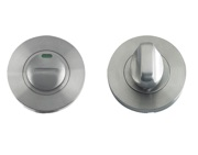 Zoo Hardware ZPS Bathroom Turn & Release With Indicator, Satin Stainless Steel - ZPS004ISS
