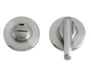 Zoo Hardware ZPS Disabled Bathroom Turn & Release With Indicator, Satin Stainless Steel - ZPS006ISS