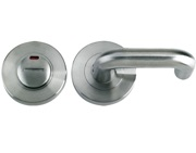 Zoo Hardware ZPS Disabled Bathroom Turn & Release With Indicator & RTD Lever, Satin Stainless Steel - ZPS006ISS