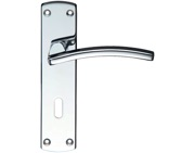 Zoo Hardware Stanza Toledo Contract Door Handles On Backplate, Polished Chrome - ZCZ031CP (sold in pairs)
