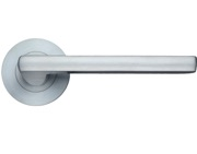 Zoo Hardware Stanza Venice Lever On Round Rose, Satin Chrome - ZPZ070SC (sold in pairs)