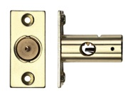 Zoo Hardware Rack Bolt (37mm OR 61mm), Electro Brass - ZRB01EB