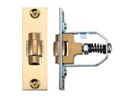 Zoo Hardware Adjustable Roller Latch (76mm), Polished Brass - ZRL76PB