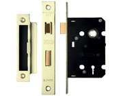 Zoo Hardware 3 Lever Contract Sash Lock (64mm OR 76mm), PVD Stainless Brass - ZSC364PVD