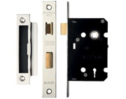 Zoo Hardware 3 Lever Contract Sash Lock (64mm OR 76mm), Satin Stainless Steel - ZSC364SS
