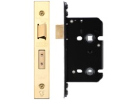 Zoo Hardware Bathroom Lock (67.5mm OR 79.5mm), PVD Stainless Brass - ZUKB64PVD