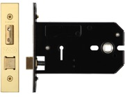 Zoo Hardware 3 Lever Horizontal Lock (127mm OR 152mm), PVD Stainless Brass - ZUKH3127PVD