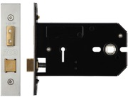 Zoo Hardware 3 Lever Horizontal Lock (127mm OR 152mm), Satin Stainless Steel - ZUKH3127SS