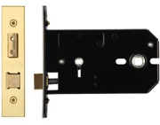 Zoo Hardware Horizontal Bathroom Lock (127mm OR 152mm), PVD Stainless Brass - ZUKHB127PVD