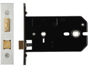 Zoo Hardware Horizontal Bathroom Lock (127mm OR 152mm), Satin Stainless Steel - ZUKHB127SS