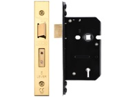 Zoo Hardware 3 Lever Sash Lock (67.5mm OR 79.5mm), PVD Stainless Brass - ZUKS364PVD