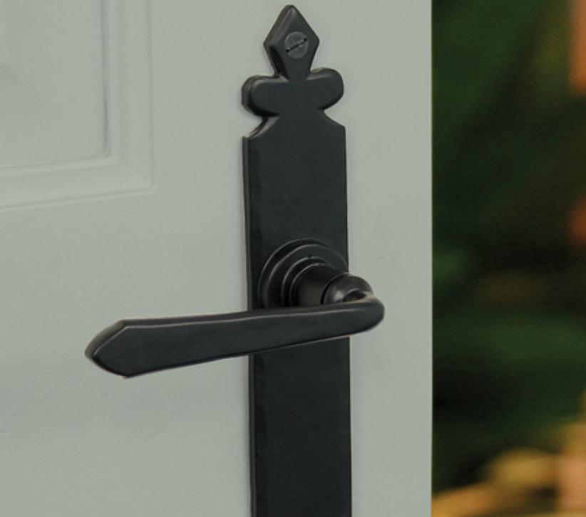 From The Anvil Fleur De Lys Cromwell Door Handles (270mm x 40mm), Black -  33116 (sold in pairs) from Door Handle Company