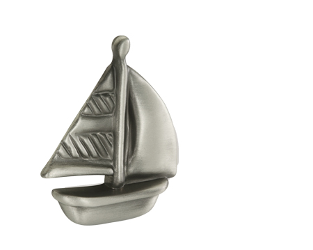 Siro 'Pewter Effect Boat' Cabinet Knob - 188448ZN50