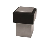 Steelworx Square Floor Door Stop With Rubber Buffer - Grade 304 Satin Stainless Steel - DSF1430SSS