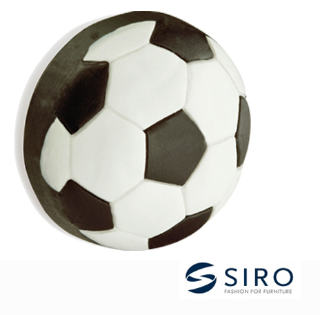Siro \'Football\' Cabinet Knob - H14840RU2 from Door Handle Company