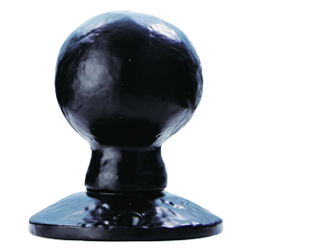 Carlisle Brass Ludlow Foundries Ball Shape Mortice Door Knob, Black Antique - LF5594 (sold in pairs)