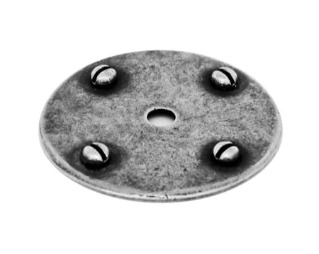 Finesse Backing Plate (43mm Diameter), Pewter - PBP006