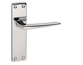 Urfic 'Royale' Door Handles On Backplate, Polished Nickel - ROYAL-PN (sold in pairs)