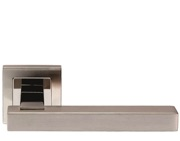 Eurospec Renzo Square Stainless Steel Door Handles - Polished & Satin Stainless Steel - SSL1405DUO (sold in pairs)