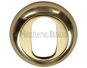 Heritage Brass Oval Key Escutcheon, Polished Brass - V4003-PB