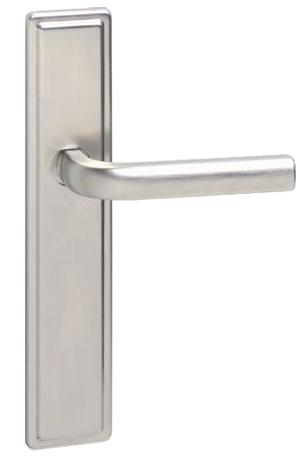 Urfic u0027Westminsteru0027 Door Handles On Backplate Satin Nickel - WMINST-SN (  sc 1 st  Door Handle Company & Urfic u0027Westminsteru0027 Door Handles On Backplate Satin Nickel ... pezcame.com