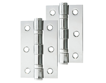 Excel Hardware 3 Inch Solid Steel Ball Bearing Hinges, Polished Nickel - XL861 (sold in pairs)